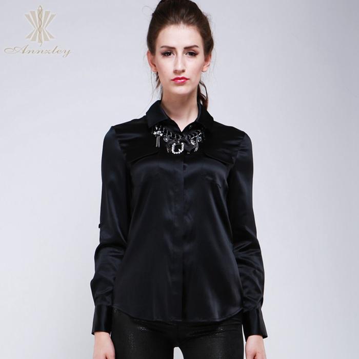 Японская шелковая блуза длинные рукава 76