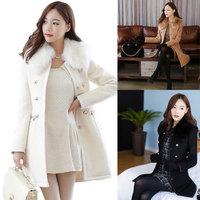 2014 new winter coat Korean Women Slim woolen cashmere wool coat winter coat women casacos femininos women's coats