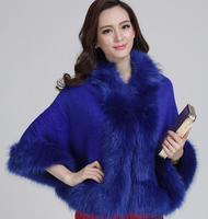 Women Faux Fur Thickeness Poncho--Women Faux Fur Throw Over--Women Winter Coat