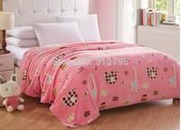 Free shipping cartoon animal printing summer warm blanket throw bedspread  manta for traveling or knee warm keeper 150*200 cm