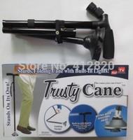 Free Shipping 40pcs/lot Cane TV Hiking Cane with light Folded Cane for old people Walking Sticks