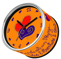 2014 Valentine's Day Free Shipping 4pcs/Packed Kitchen Fridge Magnets White Orange Wall Clocks,Color Table Function Clocks