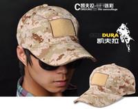Outdoor Tactical Caps With Velcro Sports Men Baseball Cap Cotton Camouflage Combat Visors Sun Hat Desert Digital Color