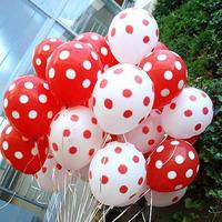 free shipping 12inch 2.2g dot polka dot balloons birthday party wedding balloon