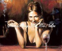 handpainted  impressionist oil painting on canvans beautiful girl art painting  RWI1301 50x60cm