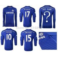 Chelsea jersey long sleeve home 2015 FABREGAS LAMPARD OSCAR TORRES HAZARD WILLIAN thai quaitly Chelsea 14 15 shirt long sleeve