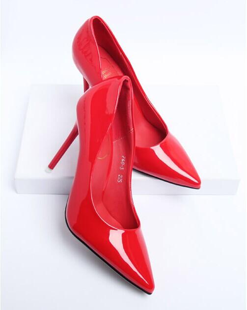 2014 europa nuovo arrivo delle donne migliore qualità perlato lustro alta- scarpe col tacco delle donne scarpe pompe più colore in
