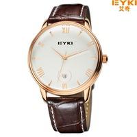 2014    Hot Sale New Fashion EYKI luxury Jewelry Brand Watches Men Business Casual Sports Waterproof Leather Quartz Watch