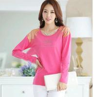 Plus Size XXXL blusas femininas 2014 autumn t shirt women long sleeve Loose show thin t-shirt tops for women