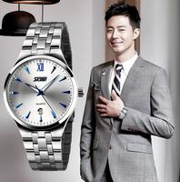 2014 MEN WATCHES NEW DIAL STAINLESS STEEL SPORT WRIST WATCH  business QUARTZ Wristwatch