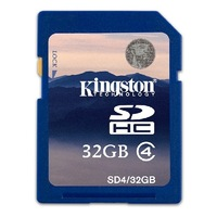 Original Kingston 32 GB Class 4 SDHC Flash Memory Card 32GB SD Card Cartao De Memoria Photo Frame Full Capacity Free shipping