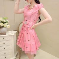 Free shipping!  2014 summer fashion gentlewomen slim macaron one-piece dress! D149016
