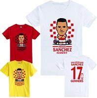 2014 new Champions League Arse Q version of the cartoon Alexis Alejandro Sanchez short-sleeved cotton T-shirt  gunners