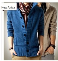 2014 new arrival Men's winter sweater cardigan sweaters coat thick shag line man casual knitwear long sleeve Acag