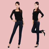 Spring hot-selling women's 2014 slim elastic pencil jeans