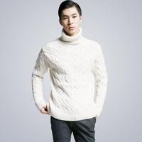 3ag 2014 new arrival autumn winter twist turtleneck men's pullover men thick sweaters Korean warm sweater turtle neck