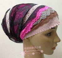 Fashion Ventilate Lace Elastic Cap Hair Muslim Bandanas Hijab Hat Basic Cap Women Accessory