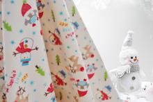 110 centímetros de algodão largura do boneco de neve dos desenhos animados velo curto pelúcia tecido de malha de algodão fundamento do bebê tecido estofar Tecido acolchoado térmico(China (Mainland))