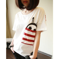free shipping ! 2014 summer big size women' clothing XL,XXL,XXXL female short-sleeve T-shirt girls' cotton casual t shirts