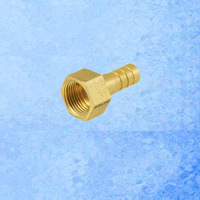 """Connecting Brass Hose Barb Female 1/4"""" to 6mm outer diamter for 6mm inner diameter PVC pipe"""