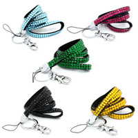 2014 Hot Free shipping(100pcs/lot) Wholesale Fashion 38 colors bling neck lanyard