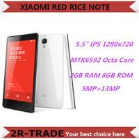 "Original Xiaomi Redmi Note 4G LTE Red Rice Note Hongmi Qualcomm Quad Core 5.5"" 1280x720 2GB RAM 8GB ROM 13MP  Mobile Phone"