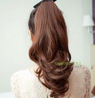 Shang Qingsi wig long curly hair supernatural increase hair amount tied type horsetail horsetail hair wig