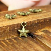 115 star design diy necklace bracelet component 200pcs/lot 8MM  pendants alloy  lucky Charms  Jewelry Findings