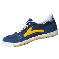 Qingdao double star table tennis ball shoes l00-903s , classic navy blue , white cow muscle outsole