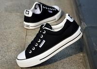 2014 male lacing low canvas shoes fashion shoes skateboarding shoes kilen flat