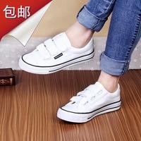 Women's women's shoes canvas shoes flat velcro cotton-made shoes brief black single shoes kilen female