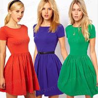 Hot Sale New Fashion Summer Casual Dresses 2015 Autumn Brand knitted cute Bandage Dress Women Work Wear