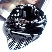 Small Commercial Facecloth Irregular Stripe Men Dress Cravat 60cm x 60 cm Square Scarf Men gift Women Collar Flower Scarf