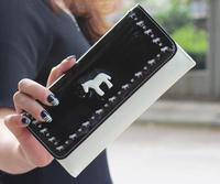 Black and horse wallet fashion purse lady burse girl notecase billfold handbag I30033-01