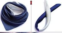 Satin Silk Polyester Scarf 60cm x 60cm Square Scarf  Small Facecloth Men Dress Cravat Tie Men Gift  Headband Accessories