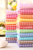 50CM  x 50CM  Plaid Cotton Fabric Candy Color, Home Textiles DIY Dress, Shirt Fabric Free Shipping