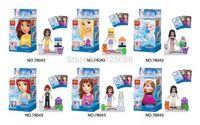 Wholesale 60pcs Building Block sets Anime Movie Model Frozen Action Figures Minifigures children Bricks toys Christmas Gifts