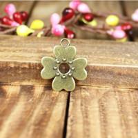 136 flower shape design diy necklace bracelet component  30pcs/lot 17MM  pendants alloy  lucky Charms  Jewelry Findings