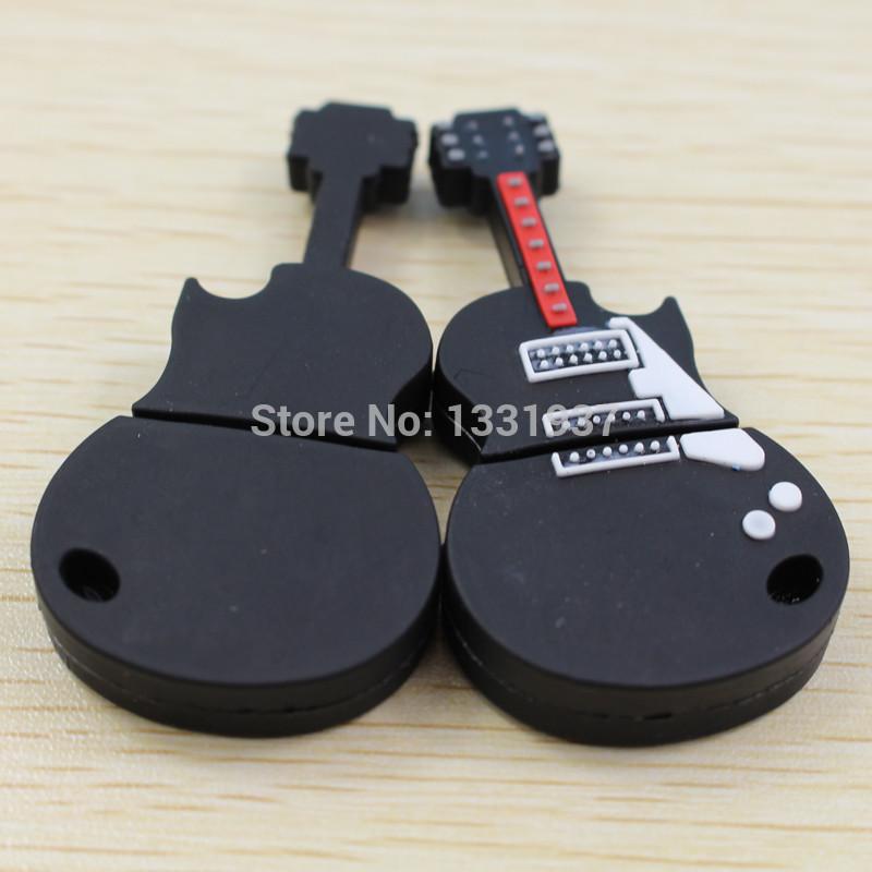 New Valentine gift black guitar USB flash drives 64GB memory stick cute fashion music best present(China (Mainland))