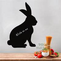 Rabbit Pattern Blackboard wall sticker, Vinyl waterpoof  Children chalkboard,Free Shipping