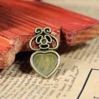 143 heart shape design diy necklace bracelet component  20pcs/lot 27*16MM pendants alloy  lucky Charms  Jewelry Findings