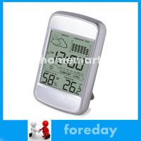 Weather Station Alarm Clock C / F History records records of MAX/MIN temperature & humidity 8.5*2.4*13.3CM 12/24 hour Original