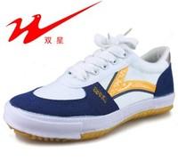 Qingdao double star senior table tennis ball shoes canvas shoes training shoes lovers design men's women's shoes