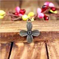 148 clover design  diy necklace bracelet component  80 pcs/lot  17MM pendants alloy  lucky Charms  Jewelry Findings