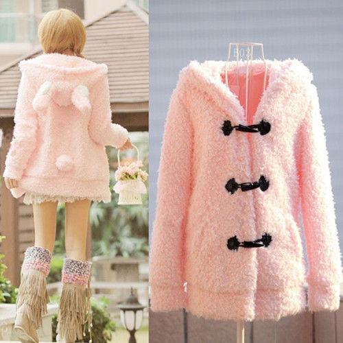 2014 Cute Winter Autumn Women Hoodies/Rabbit Ears Design Sweatshirts Hooded For Women/Brand Sweet Coats Women Clothing(China (Mainland))