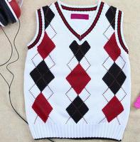 Children's clothing brand cotton pullover boys sweater children warm V-neck Sleeveless England Style Sweater
