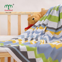 New 2014 kids blanket 80*100CM 2pc/lot 100% Cotton knitted blanket bedding set throw rugs Quilt ultra soft Maomaoyu Brand