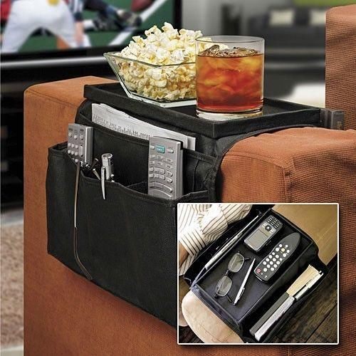 free shipping 6 Pockets Sofa handrail Couch armrest Arm Rest Organizer Remote Control Holder bag On TV Sofa corrimao Braco Resto(China (Mainland))