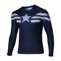 Free Shipping 2014 New Arrival Long Sleeve T shirt Winter Soldier Mens Summer T-Shirt Breathable Cycling T-shirt
