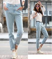 Europe high waist retro loose baggy pants, plus size Haren pants women's jeans 26/27/28/29/30/31/32/33/34 Dropshipping  JD982LK